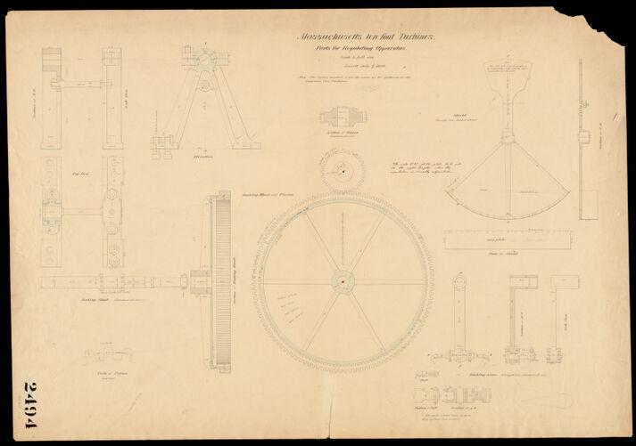 10 ft turbine. Regulating apparatus