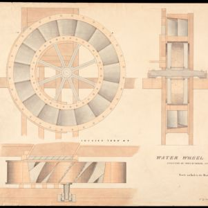 Proprietors of Locks and Canals on Merrimack River Engineering Drawings
