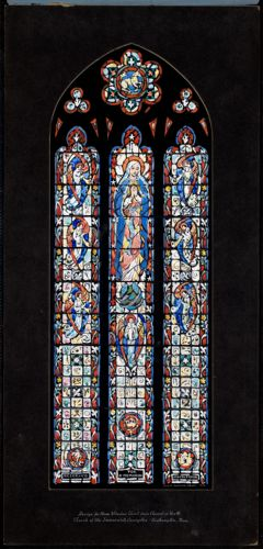 Design for nave window third from chancel on north, Church of the Immaculate Conception, Easthampton, Mass.