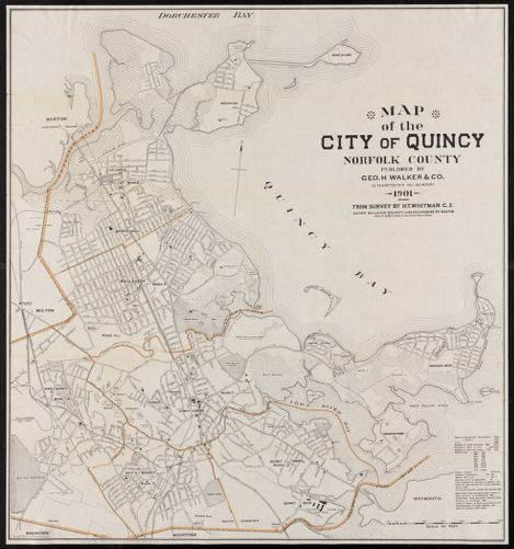 Map of the city of Quincy, Norfolk County