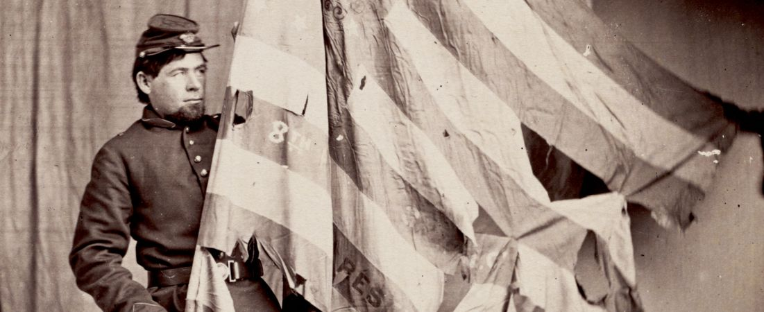 Flag and Color bearer of 8th Pennsylvania Reserves