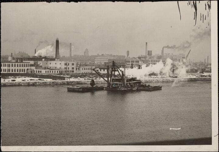 Charles River downstream from Longfellow Bridge, 1927
