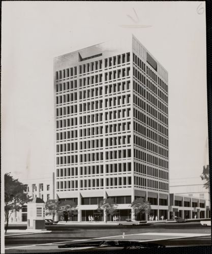 New England Gas and Electric Association and Spaulding and Slye Corporation Building proposed for Massachusetts ave. and Prospect st., Cambridge