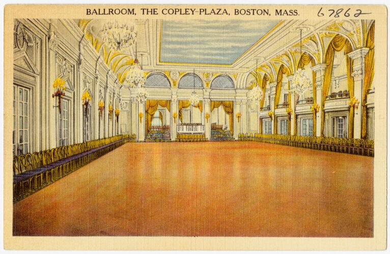 Ballroom, the Copley-Plaza, Boston, Mass.
