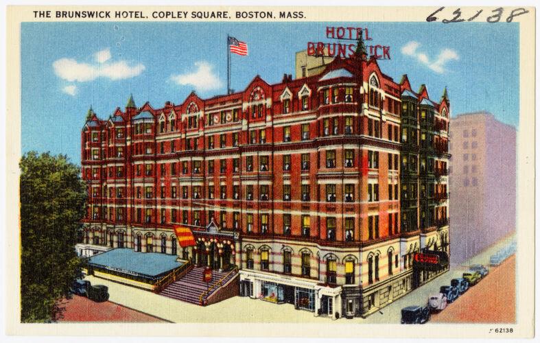 The Brunswick Hotel, Copley Square, Boston, Mass.