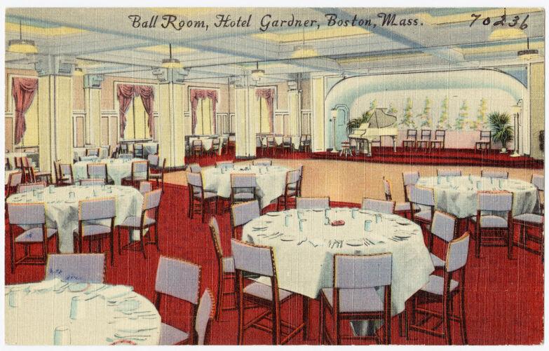 Ball room, Hotel Gardner, Boston, Mass.