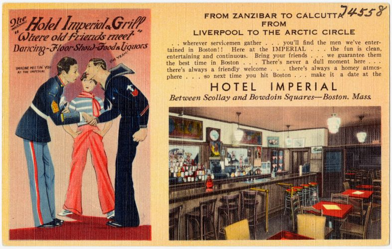 """The Hotel Imperial Grill, """"Where old friends meet"""""""