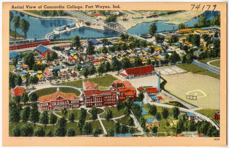 Aerial view of Concordia College, Fort Wayne, Ind.