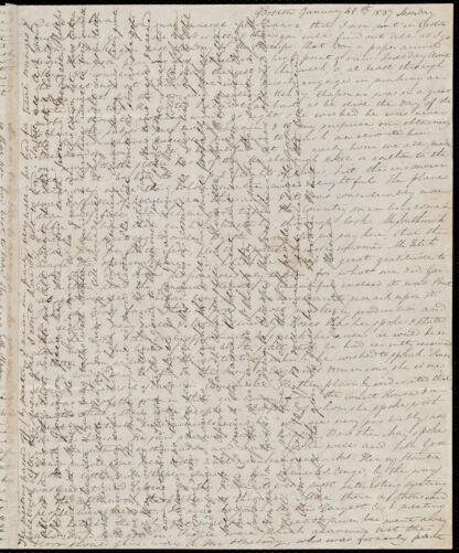 Letter from Anne Warren Weston, Boston, to Deborah Weston, January 30th, 1837, Monday