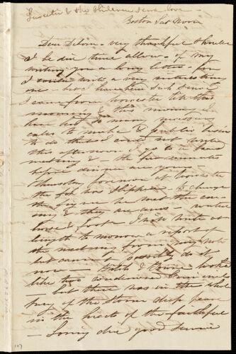 Letter from Caroline Weston, Boston, [Mass.], to Deborah Weston, Sat. noon, [1837?]