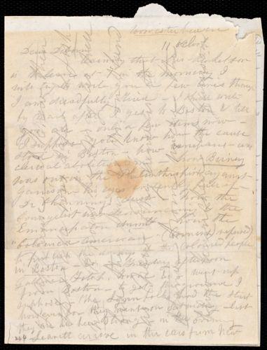 Letter from Caroline Weston, Worcester, [Mass.], to Deborah Weston, [1837?]