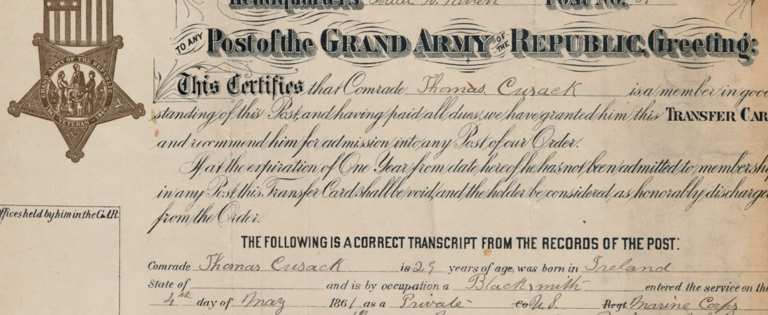 Grand Army of the Republic applications and transfers to Charles Ward Post 62. Volume 2