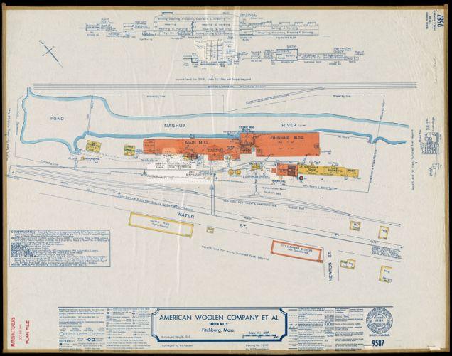 "American Woolen Company et al, ""Arden Mills,"" Fitchburg, Mass. [insurance map]"