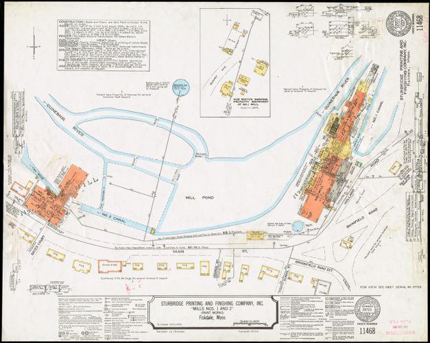 "Sturbridge Printing & Finishing Company, Inc. ""Mills Nos. 1 & 2"" (Print Works), Fiskdale, Mass. [insurance map]"