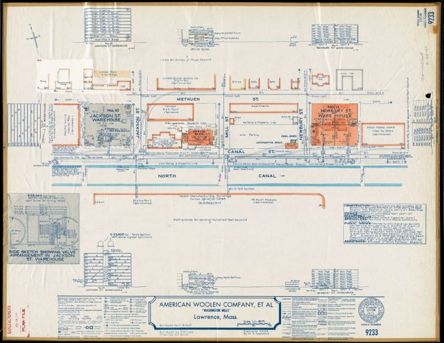 "American Woolen Company, et al, ""Washington Mills,"" Lawrence, Mass. [insurance map]"