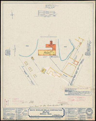 "Mayo Woolen Mills Corporation ""Mill No. 3"" (Woolen Yarn), Millbury, Mass. [insurance map]"