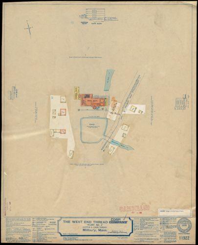 "The West End Thread Company ""Plant No. 2"" (Cotton & Linen Thread), Millbury, Mass. [insurance map]"