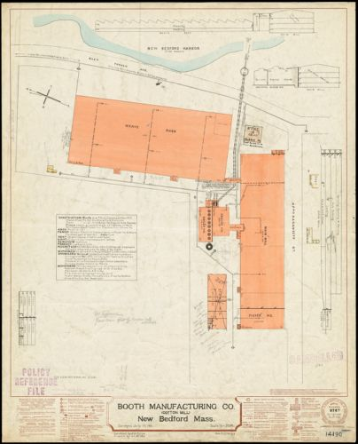Booth Manufacturing Co. (Cotton Mill), New Bedford, Mass. [insurance map]