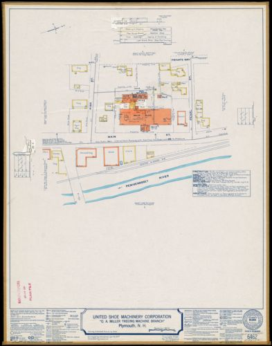 "United Shoe Machinery Corporation ""O. A. Miller Treeing Machine Branch,"" Plymouth, N.H. [insurance map]"