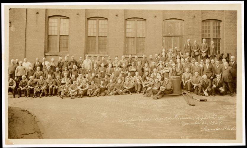 Pacific Mills Worsted Division, Repair Dept., Lawrence, Mass., 1927 [graphic]