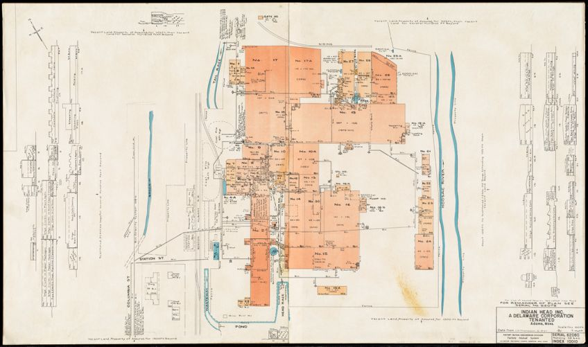 Indian Head Inc., a Delaware Corporation, tenanted, Adams, Mass. [insurance map]