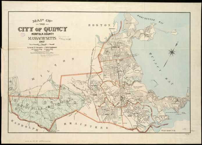 Map of the city of Quincy, Norfolk County, Massachusetts, 1907