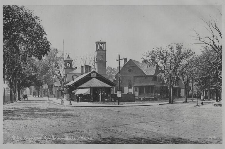 Newton photographs oversize - Newton Village Shops - The Square, Auburndale, Mass. -
