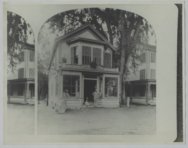 Newton photographs oversize - Newton Village Shops - B. F. Houghton Groceries -
