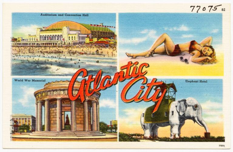 Atlantic City -- auditorium and convention hall, World War Memorial, Elephant Hotel
