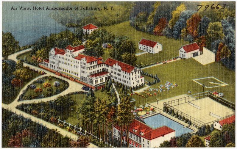 Air view, Hotel Ambassador of Fallsburg, N. Y.