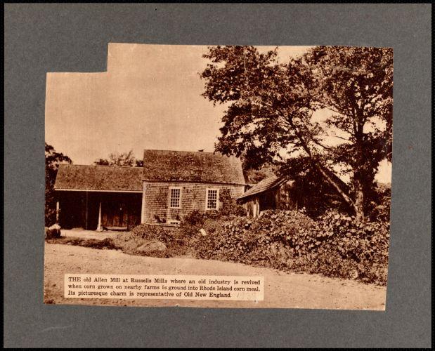 Allen Mill (grist mill) at Russells Mills, Dartmouth, MA