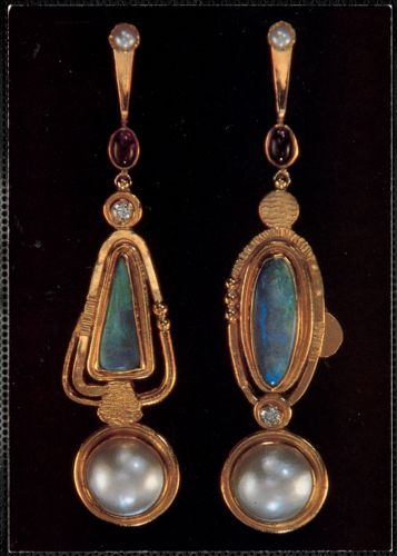 22k gold earrings from Yarmouth Port, Mass. Jeweler Ross Coppelman
