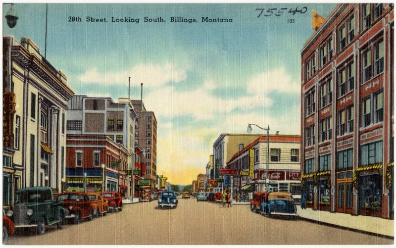 28th Street, looking south, Billings, Montana