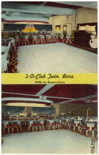 3-D-Club Twin Bars