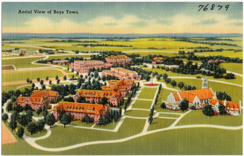 Aerial view of Boys Town