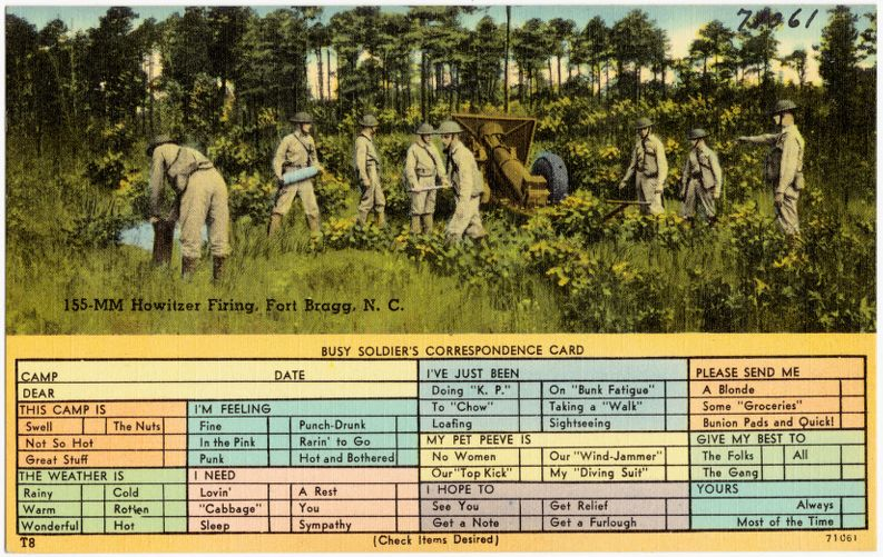 155-mm Howitzer firing, Fort Bragg, N. C.