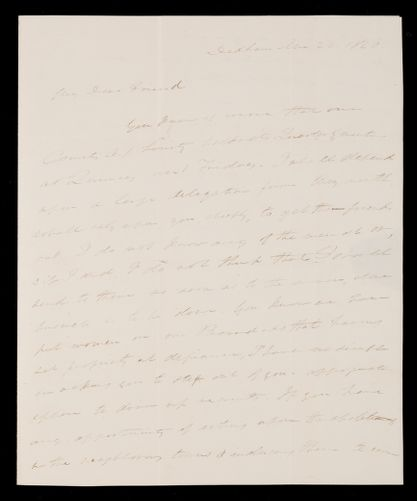 Letter from Edmund Quincy, Dedham, to Mrs. Hannah Cranch Bond Fifield, 1840 Apr 20