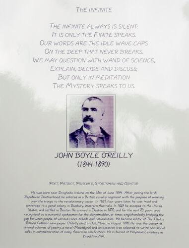 John Boyle O'Reilly memorial plaque