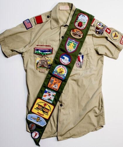 Boy Scout Uniform Sash and Shirt