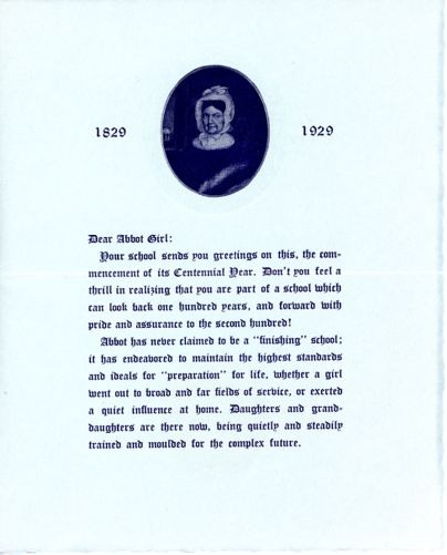 Alumnae Association newsletter for commencement to Sarah (Sallie) M. Field, Abbot Academy, class of 1904