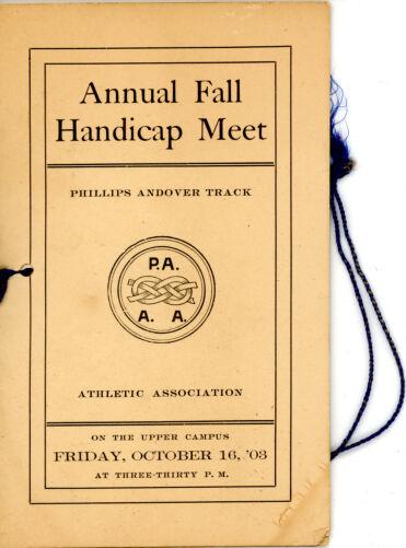 Annual fall handicap meet, Sarah (Sallie) M. Field, Abbot Academy, class of 1904