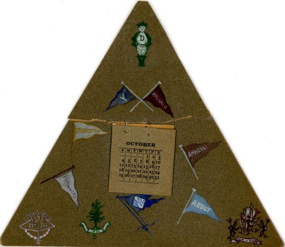 Home made calendar, Sarah (Sallie) M. Field, Abbot Academy, class of 1904