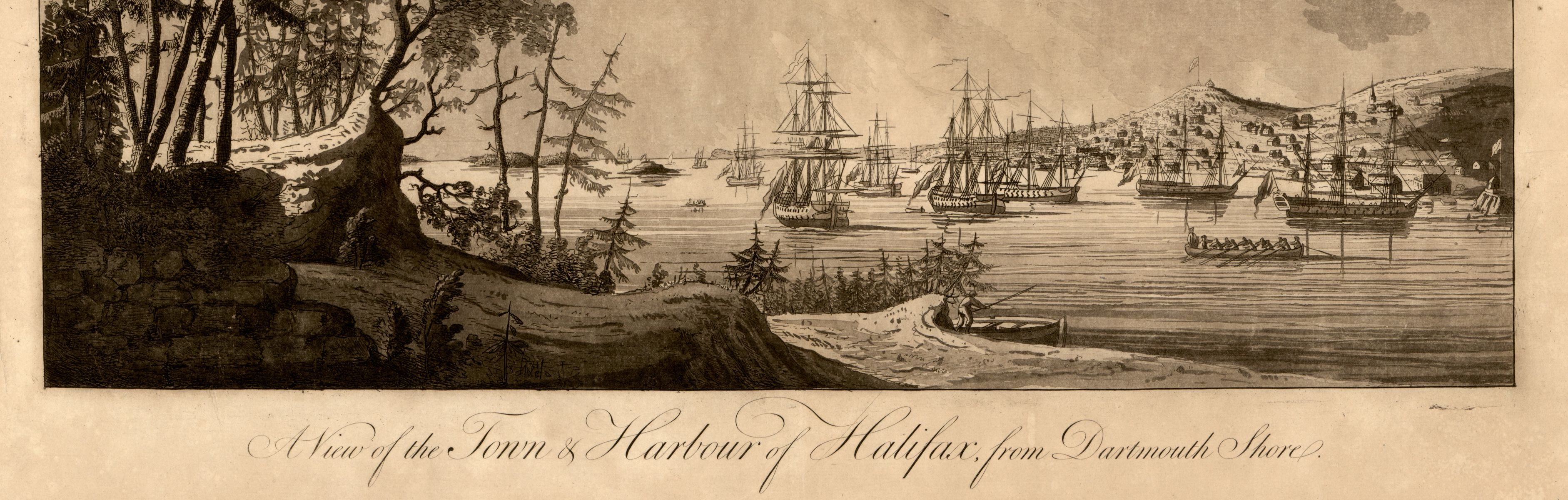 A view of Halifax in the Atlantic Neptune from the Library of Congress collection