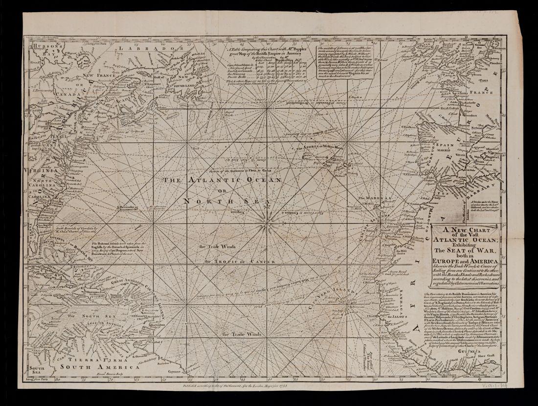 A new chart of the vast Atlantic Ocean
