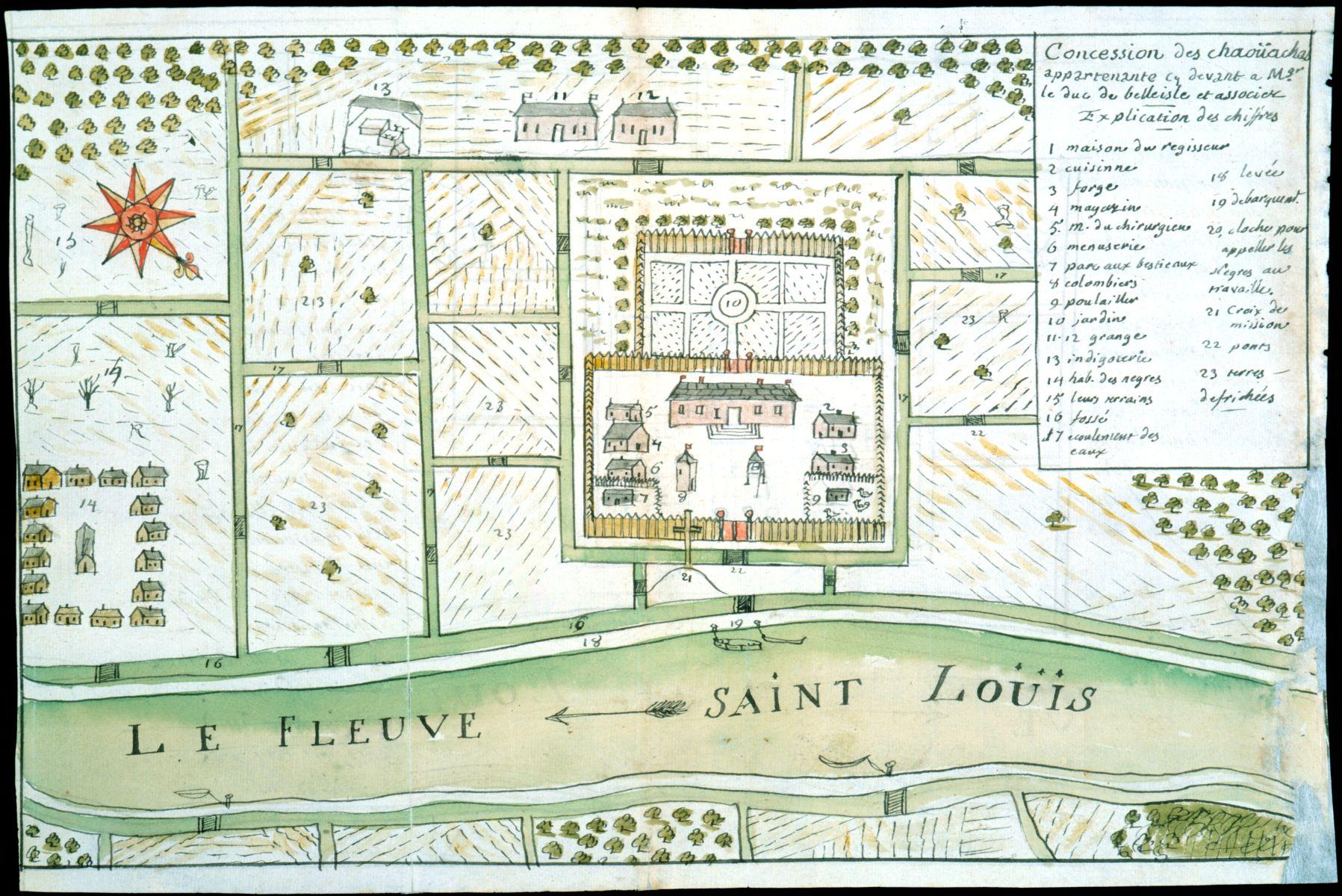 Dumont de Montigny, Concession des Chaoüachas appartenante cy devant a Mgr. le duc de Belleisle et associez (1747).