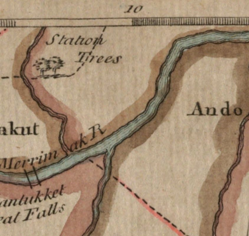 The 'Station Trees' appear on a 1776 map of Boston and eastern Massachusetts