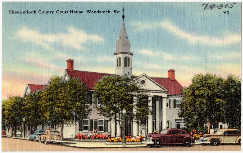 Shenandoah County Court House, Woodstock, Va.