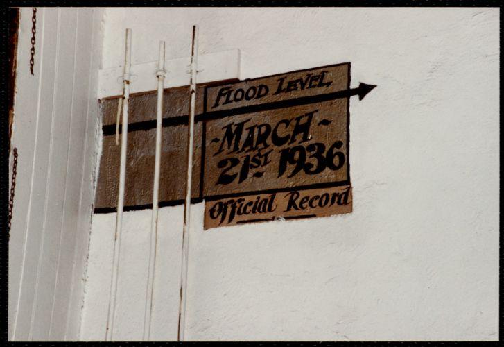 Lower Pacific Mills. Main power room. 1936 flood level