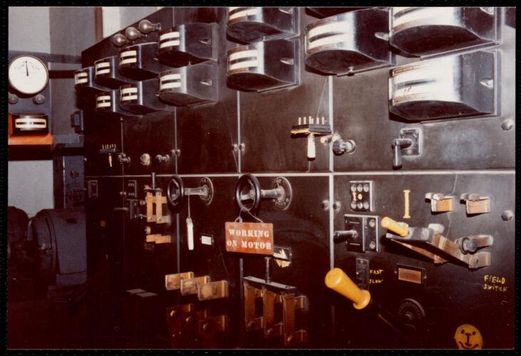 Lower Pacific Mills. Main power panel