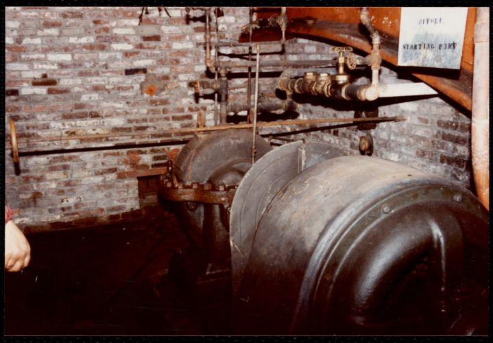 Lower Pacific Mills. Pump cellar